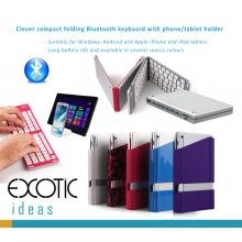BOW Bluetooth 3.0 Keyboard for Apple iOS, Windows OS and Andriod 4.0 or above, Foldable design, Easy to carry around - $29.50