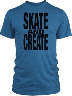 Big Texas Skate and Create (Black) Vintage Tri-Blend T-Shirt
