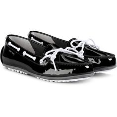 adbd1bce571 Cole Haan Grant LTE Driver in Black White Patent (160 CAD) ❤ liked