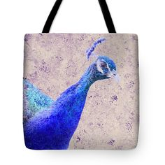 #peacock #blue #tote #bag #wallart #prints
