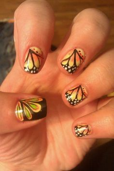 butterfly nails!!
