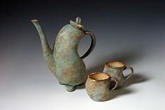 soft slab tea set by Debbie Henson