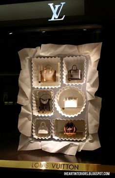 Louis Vuitton Window Display :: Box of Chocolates. I think I could handle this box of chocolates. Fashion Window Display, Fashion Displays, Window Display Design, Store Window Displays, Visual Merchandising Displays, Visual Display, Retail Windows, Store Windows, Vitrine Design