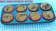 whole wheat raspberry muffins :: darcie bakes  #muffins #raspberries #raspberrymuffins #darciebakes