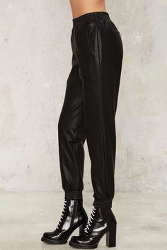 Bardot Owen Vegan Leather Pants - Clothes   Good Sport   Jogger