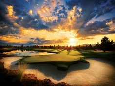 This has to be one of the most beautiful golf course pictures ever (Credit: Becky McBride)  Pronghorn Golf Club & Resort (Nicklaus)  Bend, Ore.
