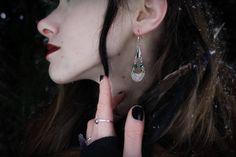 Chandelier Earrings, Inspired By Ancient Aztec Jewellery- So Boho! www.etsy.com/de/shop/WildlingJewellery
