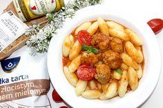 Mini pulpeciki w sosie z kluseczkami   Słodkie okruszki Pork, Cooking, Sweet, Ethnic Recipes, Pies, Kale Stir Fry, Kitchen, Candy, Pork Chops