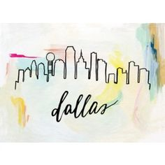 Sunrise Skyline Print, Dallas - only comes in 5x7...wish it would come in a bigger size!