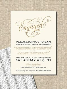 Modern Engagement Party Invitation By From Lucy With Love Https