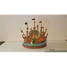 Peter Pan Pirate Ship ~ Disney Musical Motion & Lighted Snow Globe ~ Brand New in Original Box ~ in Mint Condition!