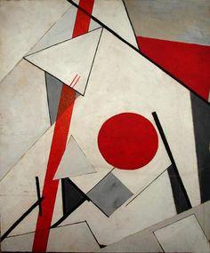 El Lissitzky painting. 1. no tiene forma coherente 2.no expresa un punto de vista individual 3.no imita ningún tipo de experiencia