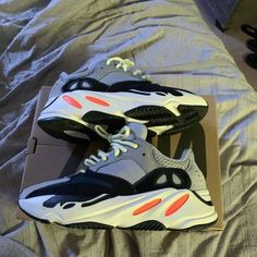 Shop Yeezy Boost 700 'Wave Runner' - adidas on GOAT. We guarantee authenticity on every sneaker purchase or your money back. Walk In My Shoes, New Shoes, Sneakers Fashion, Shoes Sneakers, Air Force 1, Runners Shoes, Baskets, Nike Air Shoes, Fresh Shoes