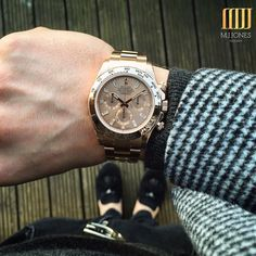 Say it with #RoseGold This #ValentinesDay The Rose Gold #Rolex #Daytona Enquire on WhatsApp 44 7921 338836