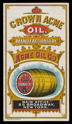 Acme Oil Company / Crown Acme Oil | Sheaff : ephemera -- folder cover