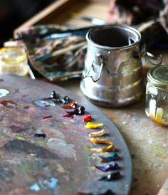 Elaine Stolt's palette.  Link goes no where, but gorgeous photo