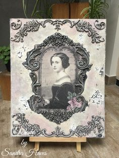 Decoupage Canvas, Victorian Wall Decor, Book Making, Painting Techniques, Canvas Frame, Orchids, Steampunk, Mixed Media, Etsy Shop