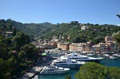 Luxury yachts in portofino