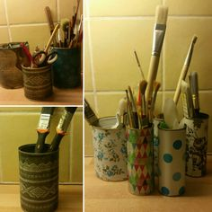 Old cans can be used for storage