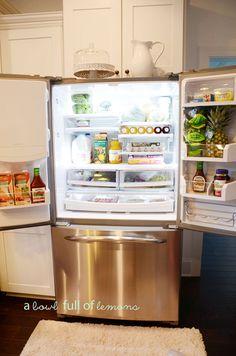 How to organize the fridge, fridge coasters make cleaning super easy!   A Bowl Full of Lemons