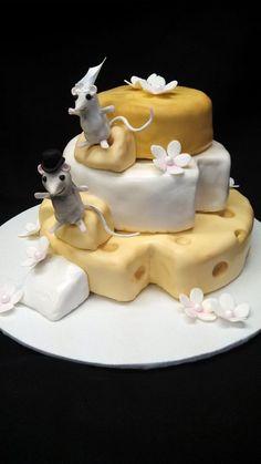 Bridal show cake — Whimsical / Topsy-Turvy Cakes
