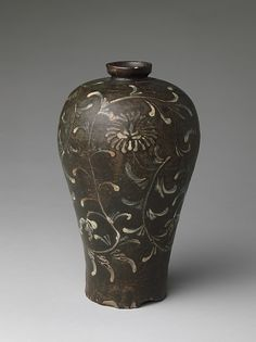 Maebyeong, a Korean transliteration of the Chinese term meiping (plum bottle), refers to a shape like this vessel's, with rounded shoulders and curved contours as well as a distinctive lip.