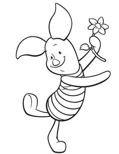 download piglet pig coloring pages to print winnie the pooh or - Winnie The Pooh Coloring Pages
