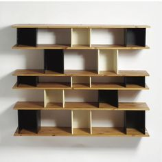 Nuage Bibliothèque, Manufactured by Les Ateliers Jean Prouvé, France and Editioned by Steph Simon, France. Wall Mounted Bookshelves, Bookcase Shelves, Display Shelves, Storage Shelves, Wall Shelves, Shelving, Charlotte Perriand, Space Furniture, Furniture Design