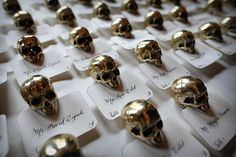 Skull place card holders!