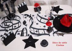 Déco de table cinéma. Chemin de table Cinéma 0.30 x 5m 21st Birthday, Birthday Parties, Themed Parties, Deco Theme Cinema, Movie Star Party, Oscar Movies, Prom Themes, Casino Party, Casino Night