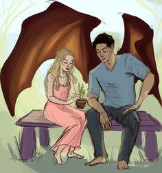 Elain & Azriel Their friendship is too cute, Azriel is such a precious cinnamon roll..