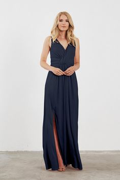 Shop Dove & Dahlia Bridesmaid Dress - Evelyn in Luxe Stretch Jersey at Weddington Way. Find the perfect made-to-order bridesmaid dresses for your bridal party in your favorite color, style and fabric at Weddington Way.
