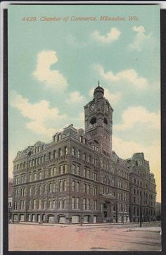 Milwaukee-WI-Chamber of Commerce-Antique Postcard