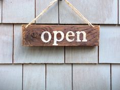 Open/Closed Rustic Window Sign