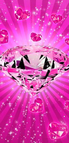 New Pink Diamond Wallpaper Pink Diamond Wallpaper, Pink Glitter Wallpaper, Bling Wallpaper, Heart Wallpaper, Butterfly Wallpaper, Cellphone Wallpaper, Colorful Wallpaper, Galaxy Wallpaper, Iphone Wallpaper