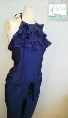 Wedding SUIT  -  Style and Hand Made by ArtEcò Creazioni di Annalisa Benedetti #artecocreazioni #annalisabenedetti #style #stylist #handmade #madeinitaly #fashion #suit #wedding #silk #blue