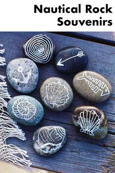 Drawing on rocks from the beach makes for a fun decor piece that will remind you of a treasured vacation.