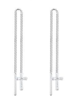 Diese strahlend schönen Kreuz-Ohrringe aus feinstem 925er Sterling Silber sind ein Symbol für spirituelle Verbundenheit und ein cooles Accessoire zugleich. Komplettiere dein Lieblingsoutfit mit diesem außergewöhnlichen Ohrschmuck als extravagantes Highlight. Produktdetails: Höhe: 88mm, Breite: 5mm, Gewicht: 1,0g, Optik: glänzend, Art der Kette: Curb, ...