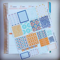 New kit...the hues of orange are perfect for an October spread. #stickers #planner #plannerlove #plannernerd #plannergeek #plannerlove #lifeplanner #eclp #erincondren #ec #planningwithbelinda #plannerstickers #october by pixieprintsco
