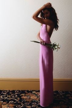 The Backless Slip Gown