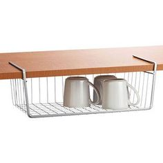 Polytherm Undershelf Baskets  Utilize the often-wasted space between your cabinet shelves with our functional and attractive Polytherm Undershelf Baskets. Prep Kitchen, Kitchen Pantry, Kitchen Cabinets, Inside Cabinets, Corner Cabinets, Cupboards, Kitchen Corner, Kitchen Sink, Kitchen Tools