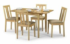 Elegant Dining Table Set 4 Chairs Rectangle Classic Natural kitchen Room Home Cheap Table And Chairs, Dining Table Chairs, Dining Set, Dining Furniture Sets, Vintage Furniture, Flooring Shops, Elegant Dining, Extendable Dining Table, Natural Kitchen