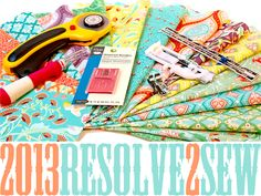 2013 Sewing Resolutions