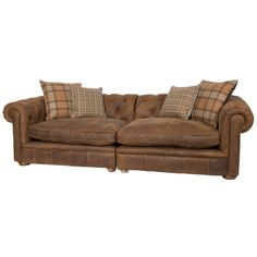 $2900 Franklin Leather Grand Sofa | Overstock.com Shopping - The Best Deals on Sofas & Loveseats