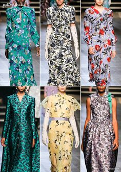 London Catwalk Print & Pattern Highlights – Spring/Summer 2018 Ready-to-Wear (Patternbank) Floral Fashion, Fashion Prints, London Fashion Week 2018, Summer Outfits 2017, Catwalk Fashion, Weird Fashion, Summer Trends, Clothing Patterns, Print Patterns