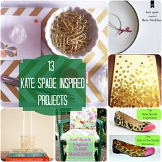 13 DIY Kate Spade Inspired Projects {rainonatinroof.com}
