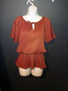 70s maxi dress, hemmed to a shorter length.