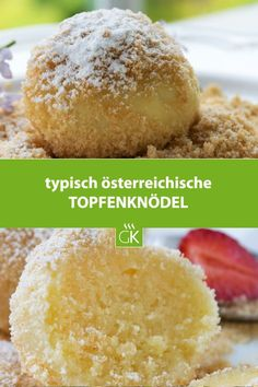 Topfenknödel – Rezept These curd cheese dumplings are a popular dessert recipe. Delicious with compote or fresh fruit. Cheese Dumplings Recipe, Bread Dumplings, Dumpling Recipe, Empanadas, Austrian Recipes, Good Food, Yummy Food, Albondigas, Food Design