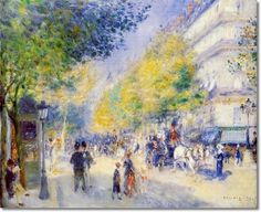 french impressionist paintings   ... French Impressionist Painting - The Great Boulevards 1875 Painting