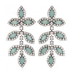 Charm & Chain | Leaf Earrings, Pacific Opal - Earrings - Jewelry